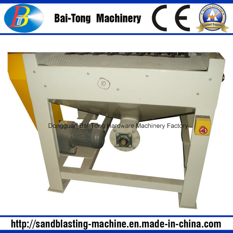 Belt Conveyer Automatic Sandblasting Machine for Mobilephone Shell