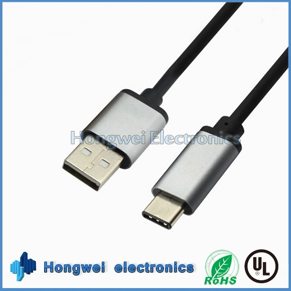 Retractable Big Current Fast USB 2.0 to Type-C USB Cable
