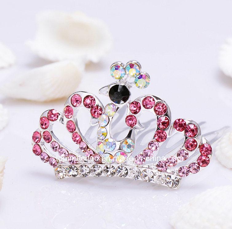 Fashion Crystal Rhinestone Baby Kids Princess Birthday Party Girl Women Hair Comb Gift Tiara Crown