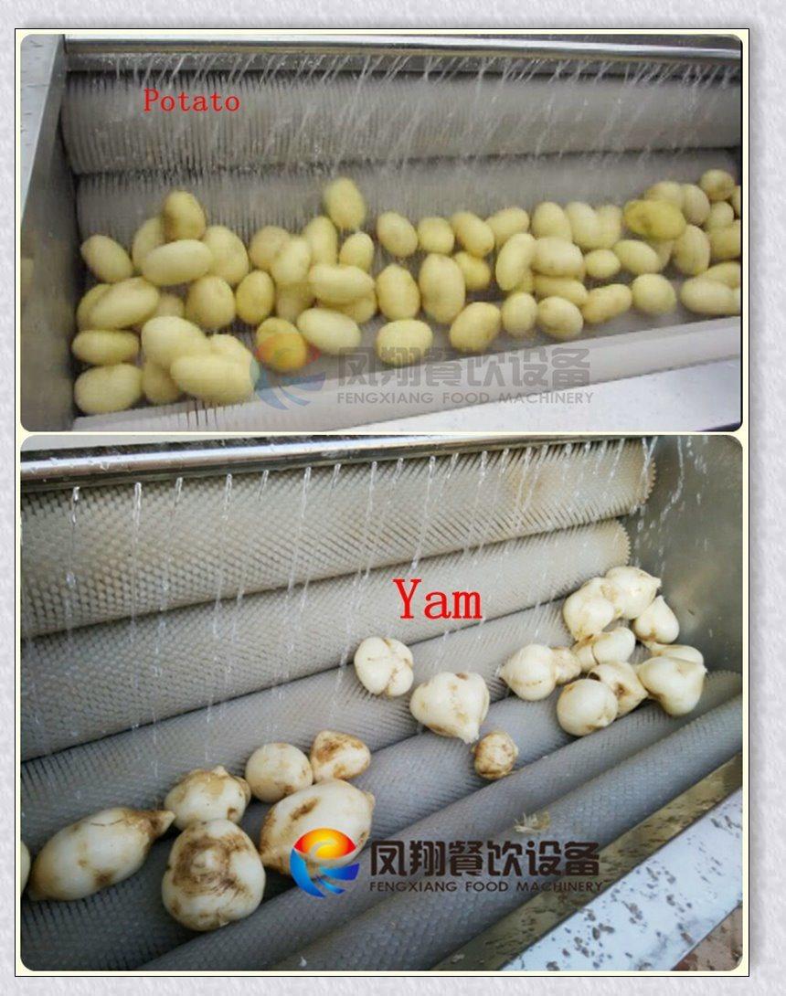 Mstp-1000 Attrition Type Potato Washer Vegetable Peeling and Washing Machine