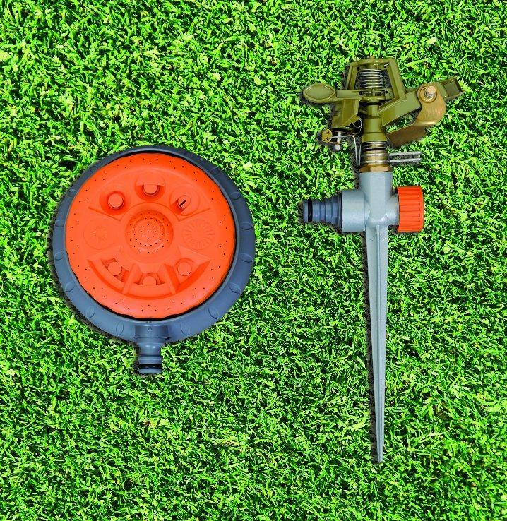 Garden Water Sprinkler 19 Hole Aluminium Oscillating Sprinkler