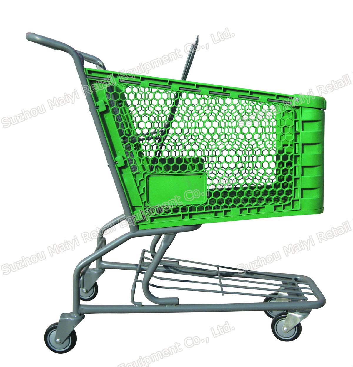 Plastic Supermarket Convenient Retail Store Shopping Cart