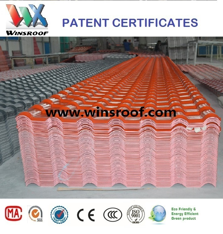 Wins PMMA Roof Tile for Living House Long Color Last