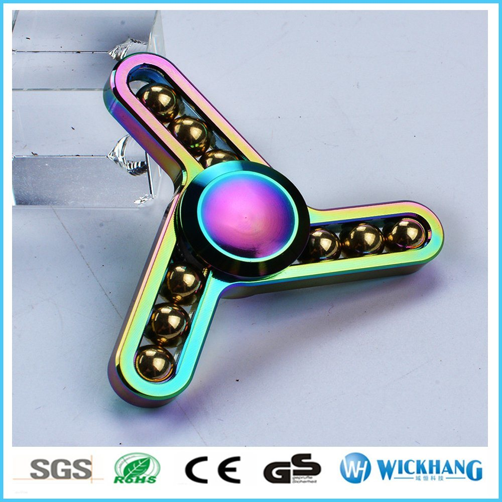 Alloy Ball Hand Spinner Tri-Fidget Desk Focus Toys EDC Anti Stress Adhd Autism
