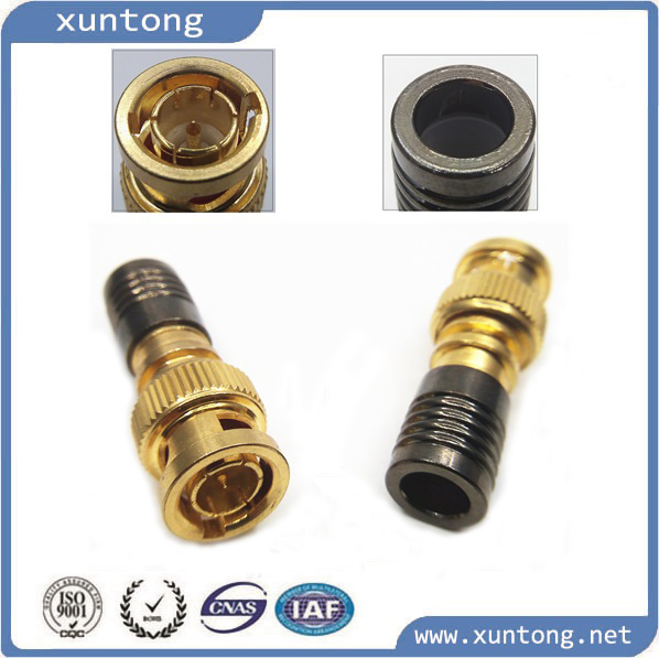 Waterproof CCTV RG6 Rg59 BNC Connector Connector Factory