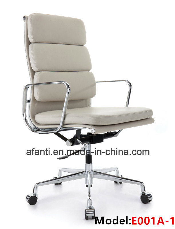 Modern Furniture Aluninum Eames Swivel Office Leather Manager Chair (RFT-A01)
