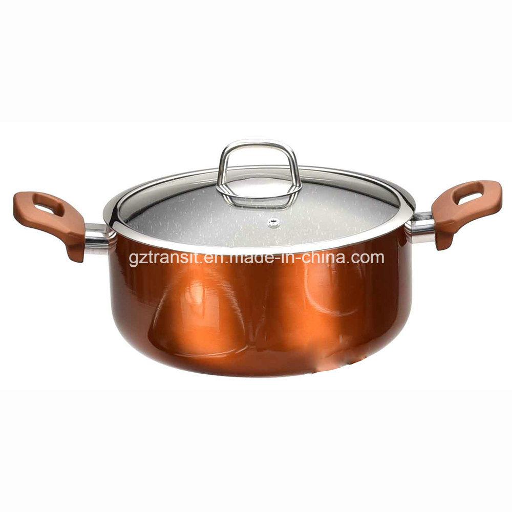 Metallic Copper Colour Aluminum Pots Casseroles