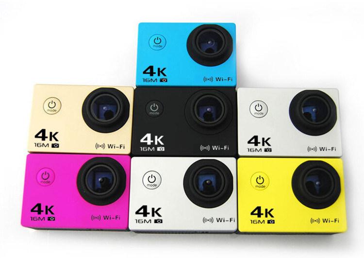 "Novatek 96660 Action Camera 4k WiFi Full HD 1080P DVR 12MP 2""LCD Waterproof 30m Sports Camera"