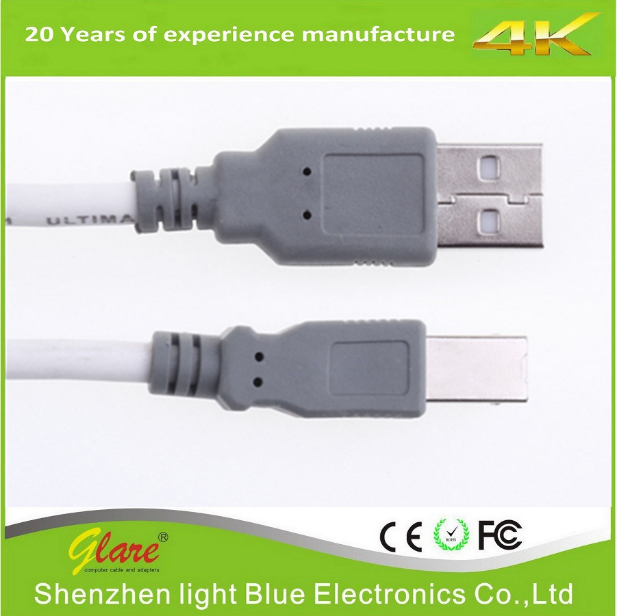 2.0 USB Am to Bm Cable for Printer Scanner Camera