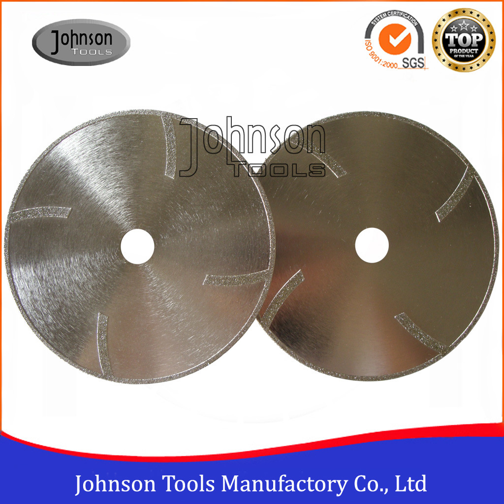 105-300mm Electroplated Diamond Saw Blade with Protection Teeth for Marble and Granite Cutting