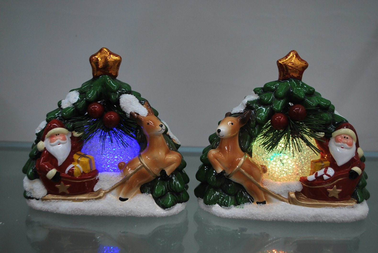 Resin Xmas Furniture Candlestick Candle Holder Craft