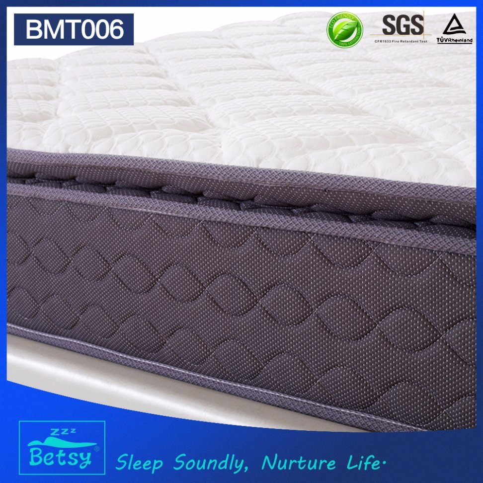 OEM Resilient Bed Mattress 27cm High with 5 Zone Pocket Spring and Deluxe Pillow Top Design