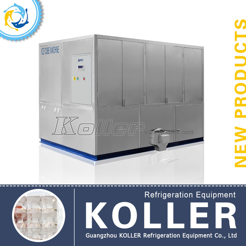 Stable Capacity 5tons Ice Cube Maker with PLC Program Control&Packing System (CV5000)