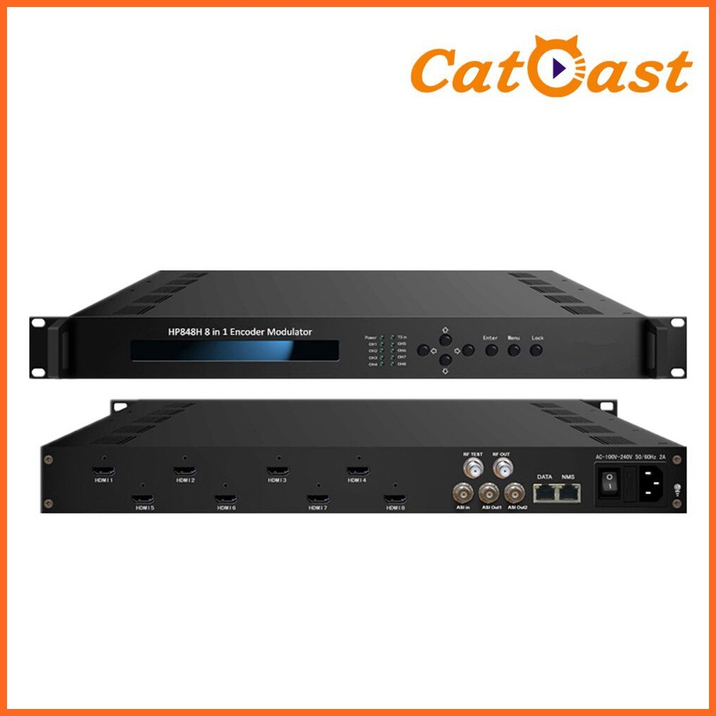 8 in 1 HDMI Encoder Modulator with DVB-C/T RF out