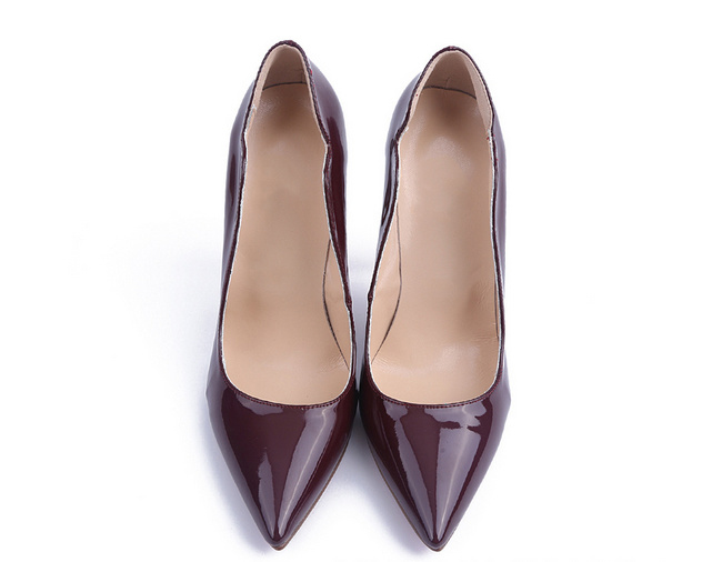 Fashion Style Burgundy High Heel Women Shoes (HS17-064)