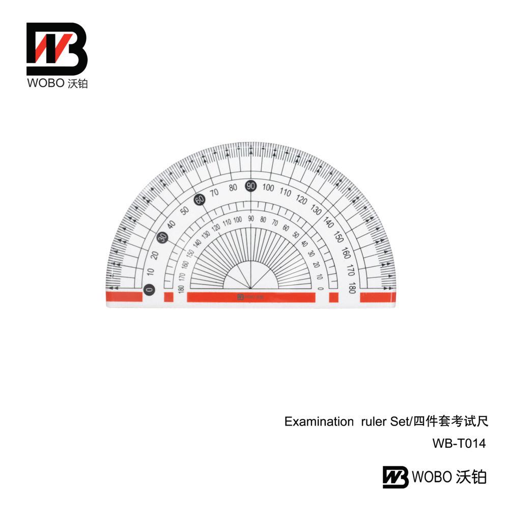 2016 Multifunctional China Examination Ruler Set for Stationery Use