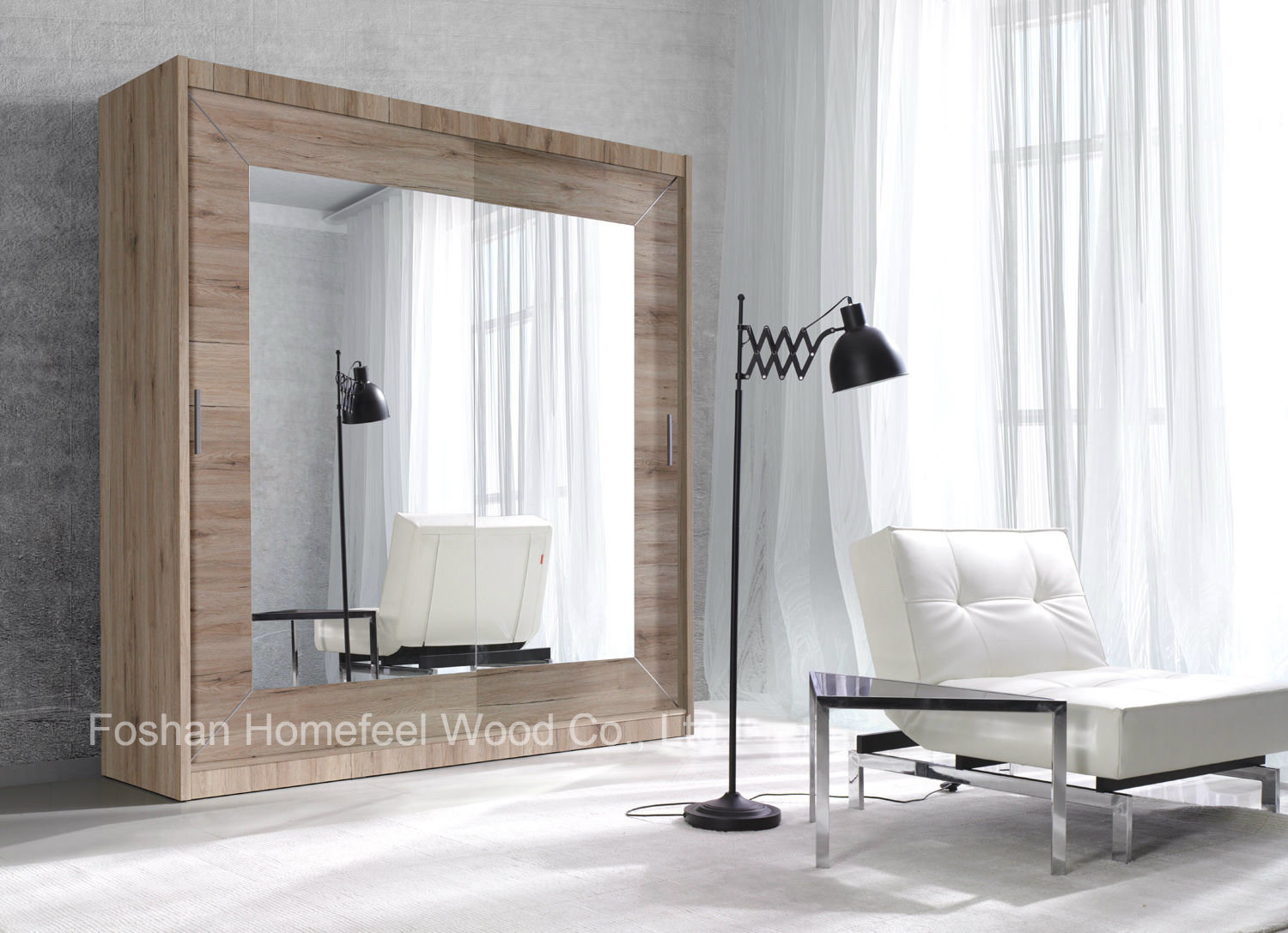 Alsa Modern Bedroom Wardrobe with Sliding Door (HF-EY081)
