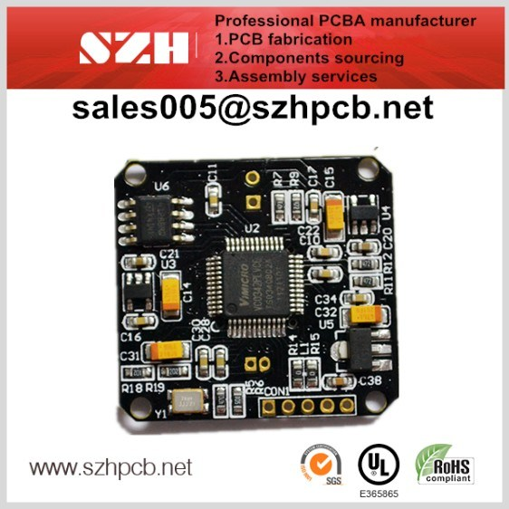 Populated Printed Circuit Board, Made of Fr-4