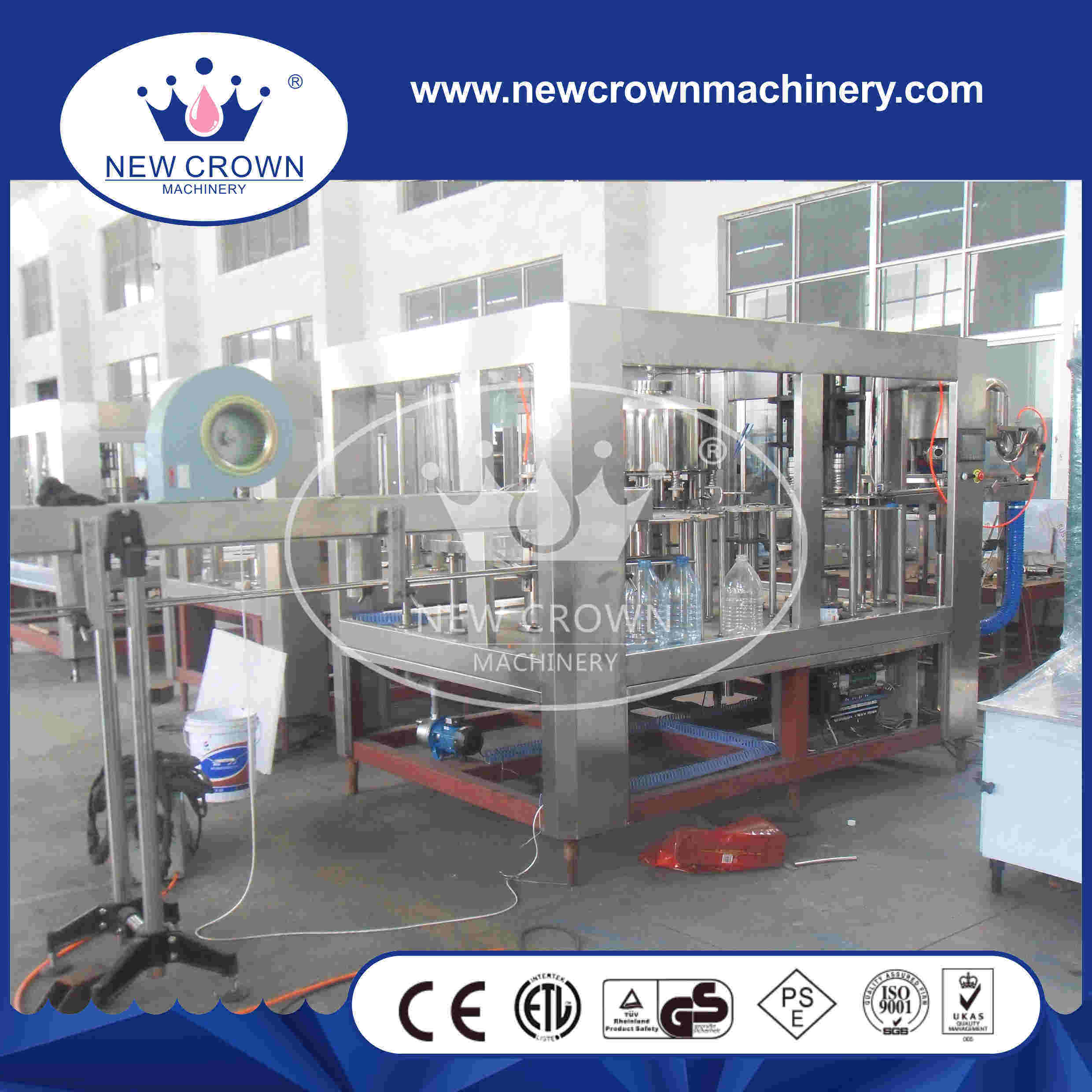 CE Approved Cgf8-8-3 5L Plastic Bottle Water Filling Machine