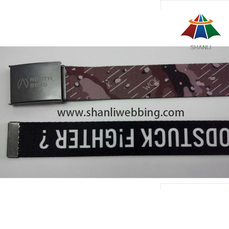 Factory Direct Heat Transfer Polyester Fashion Men Webbing Belt