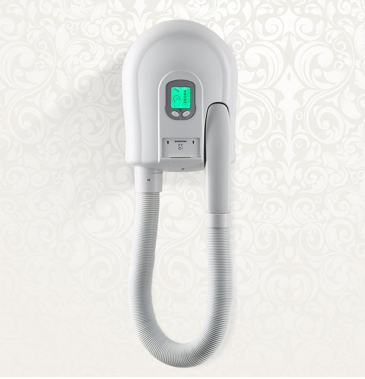 High Efficiency Wall-Mounted ABS White Hotel Bathroom Body/ Skin and Hair Dryer
