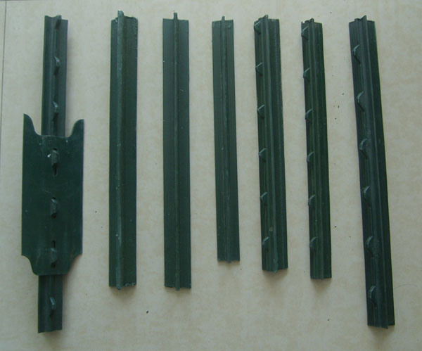 American Steel Studded T Post Galvanized / Green Paint T Post