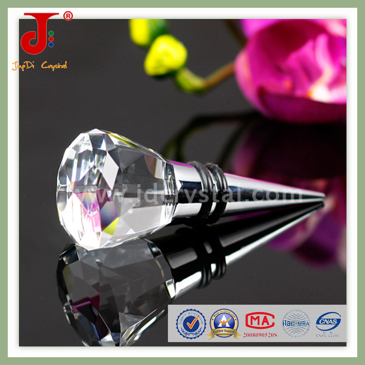 Clear Crystal Wine Stopper (JD-WS-411)