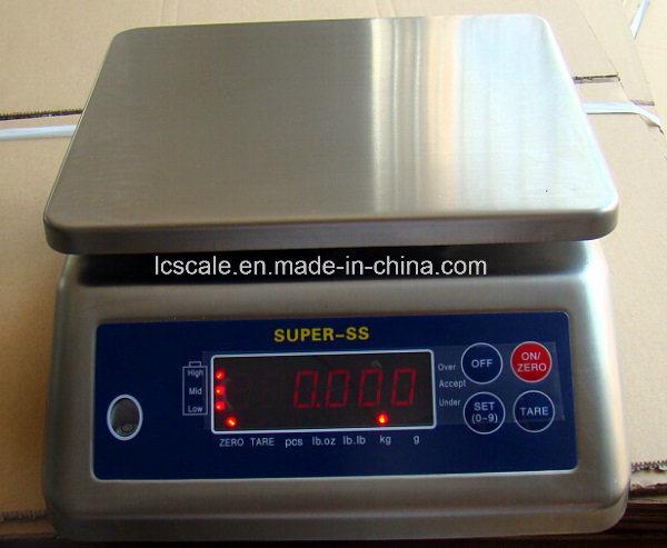 IP68 30kg Super-Ss Double Display Waterproof Scale