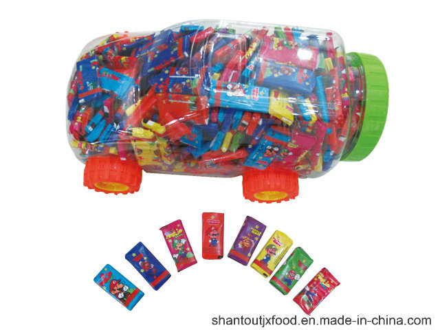 Car Shape Bottle Short Bubble Gum 280PCS