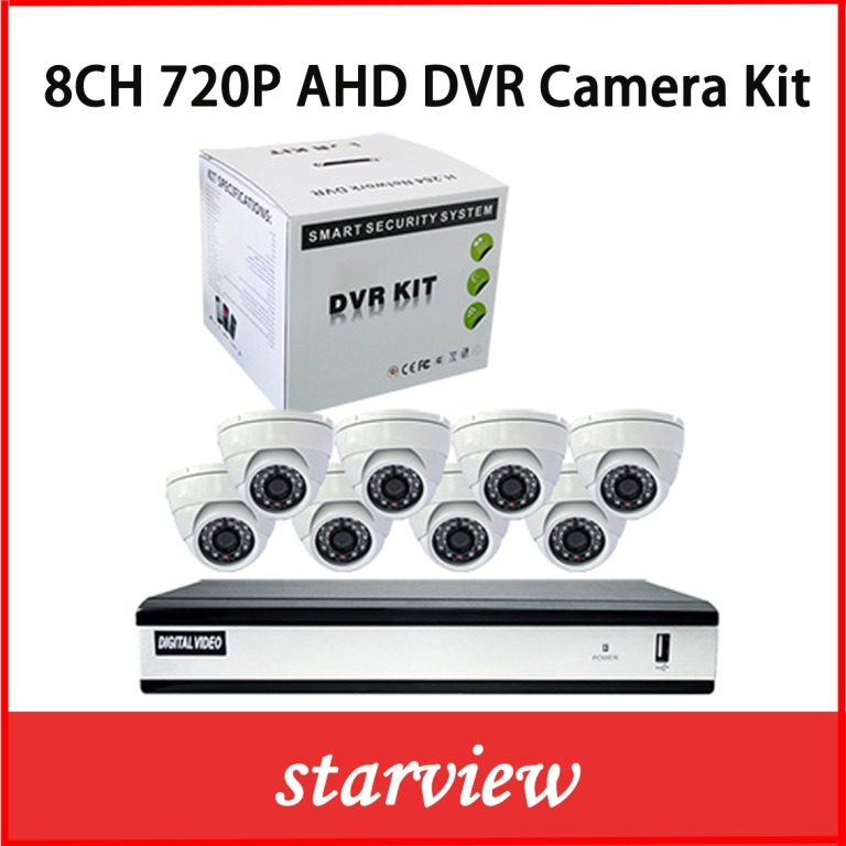 8CH H. 264 720p Ahd DVR with 8 CCTV Cameras