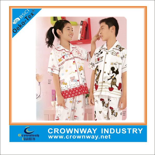 Beautiful Kids Soft Cotton Pajamas with Cartoon Print