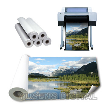 SGS Audited Factory Sell 115GSM-260GSM Glossy Inkjet Photo Paper in Rolls