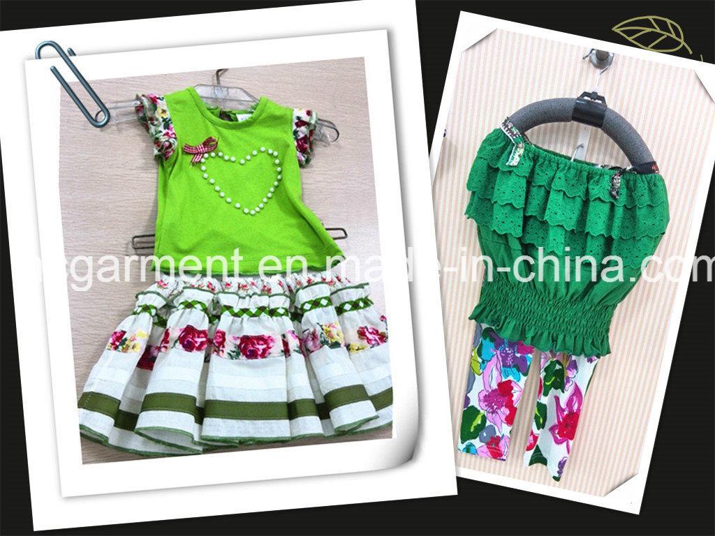 Kids Suit Lovely Printed Skirt Dress for Girl/Kids
