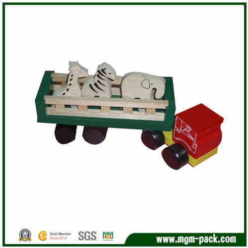 Food Grade Handmade Lovely Wooden Truck Toy for Kids