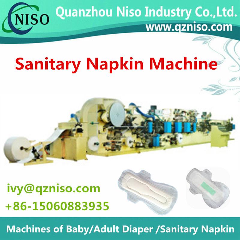 Full Automatic Semi-Servo Feminine Pads Machine Sanitary Napkin Machine Manufacture From China