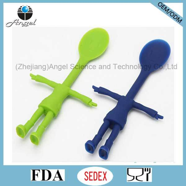 New Style Kids Silicone Scoop Silicone Spoon for Children Sk28