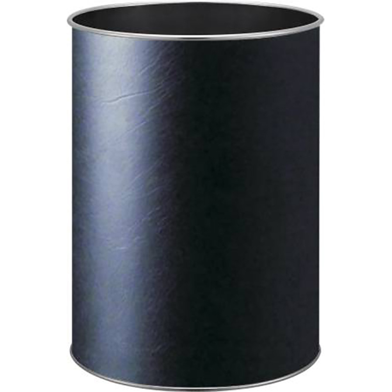 Hotel Single Layer Classic Round PU Leather Dust Bin