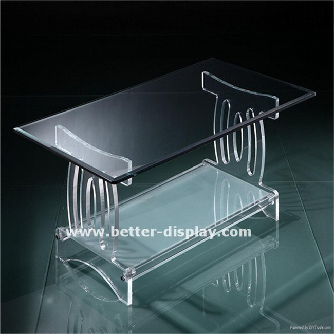 Custom Clear Acrylic Chinese Tea Table (BTR-Q1012)