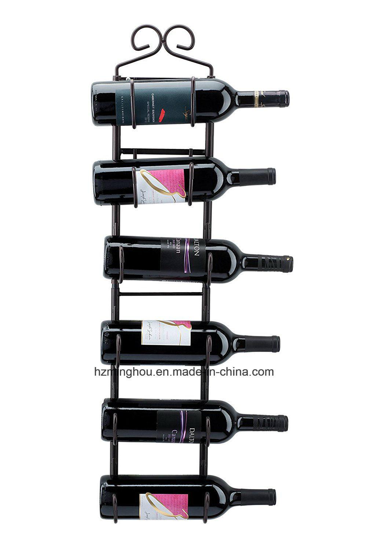 Wine and Towel Metal Rack Hanging Wall Mounted Display Shelf