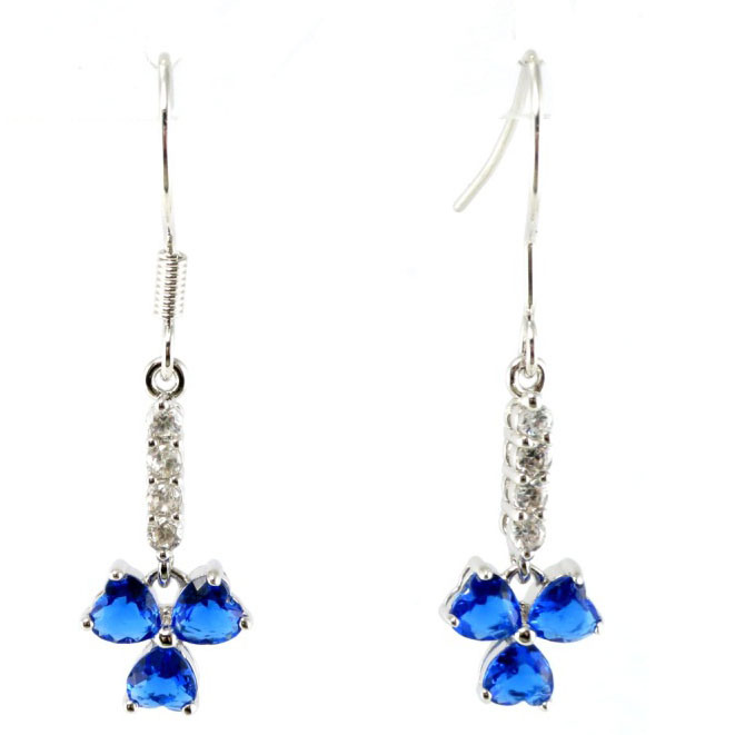 Crystal Ear Stud Dangler with CZ Stone Charm Popular Jewelry Earring (E6920B)