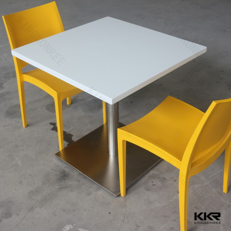 Acrylic Solid Surface Fast Food Restaurant Dining Tables