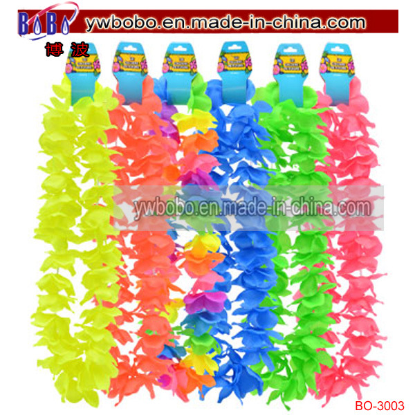 Plastic Hawaiian Leisluau Leis Polyester Flower Lei (BO-3003)