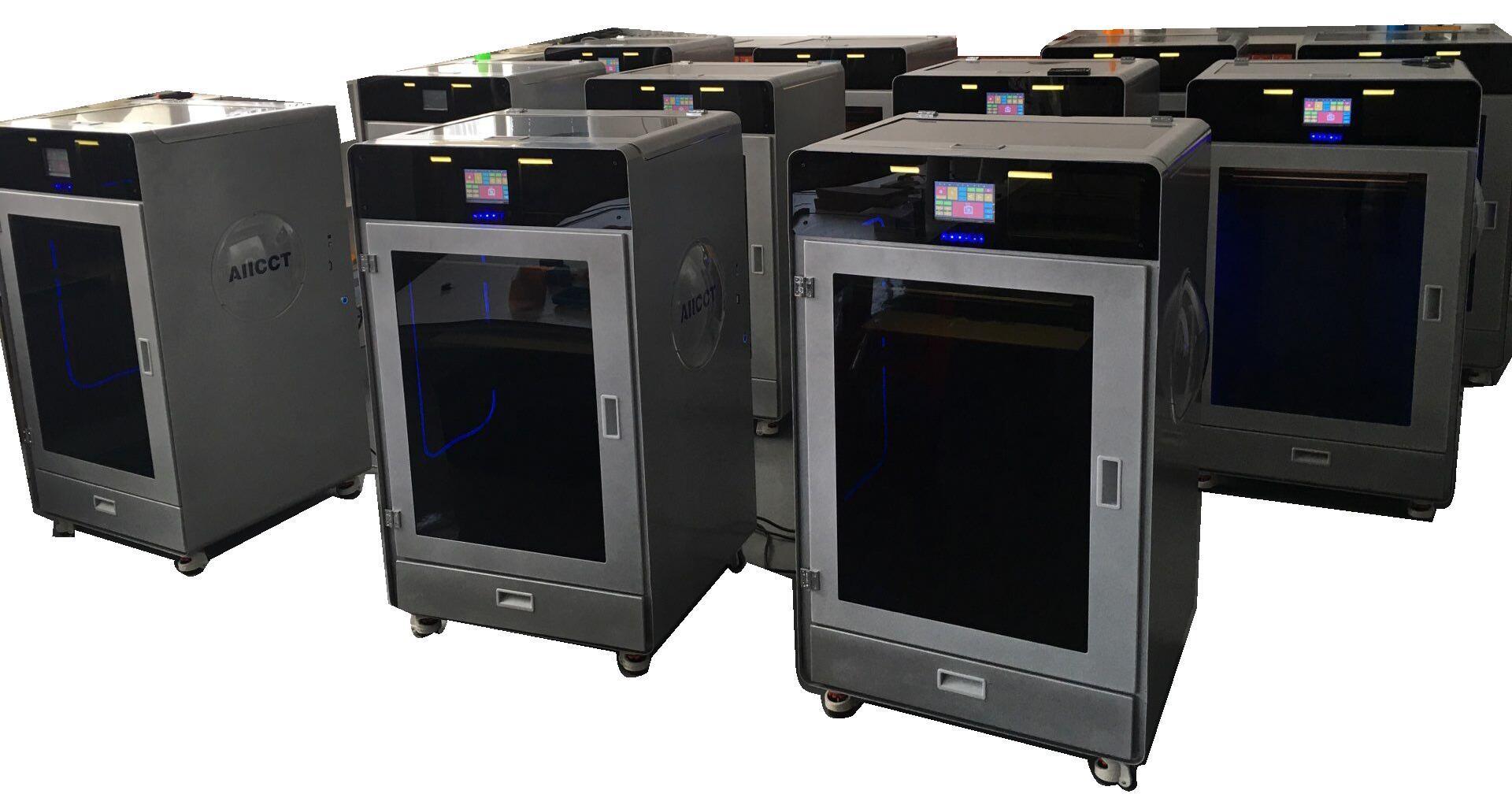 Double Color 400X400X500mm Large Size Linear Rail Industrial 3D Printer
