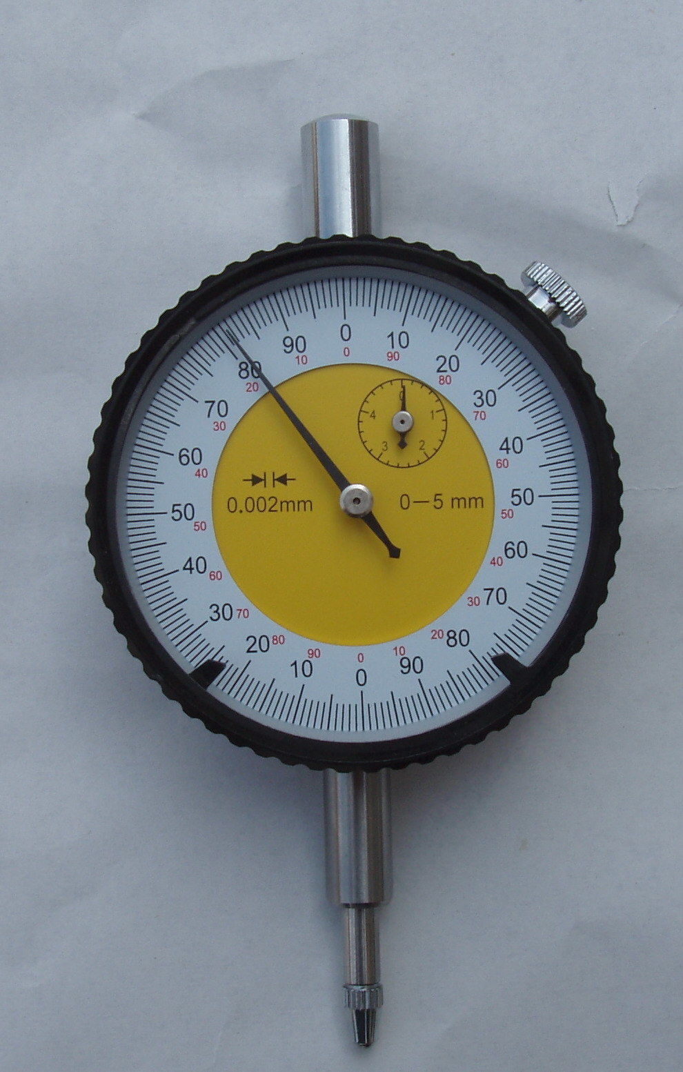 Metric Dial Indicator Dial Gauge with Test Certificate (with lugger back Steel Shall plastic box)