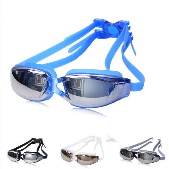 Adult Swimming Goggles Swim Silicone Anti-Fog Glasses