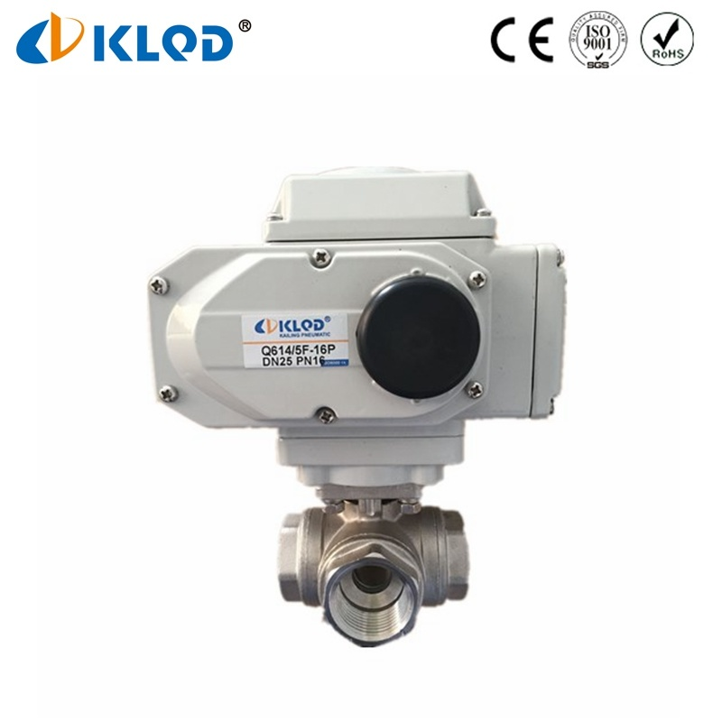 Electric Type Actuator Automatic Electrical 3 Way Water Float Ball Valve