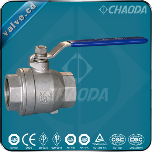 Two Pieces Body Female Threaded Ball Valve