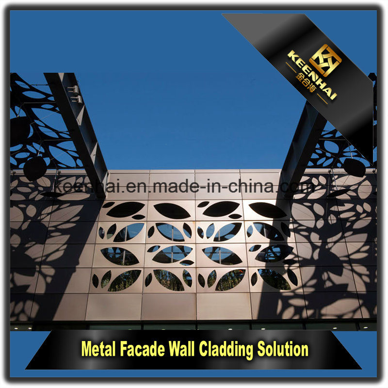 Laser Cut Metal Perforated Aluminum Sheet Metal Panel