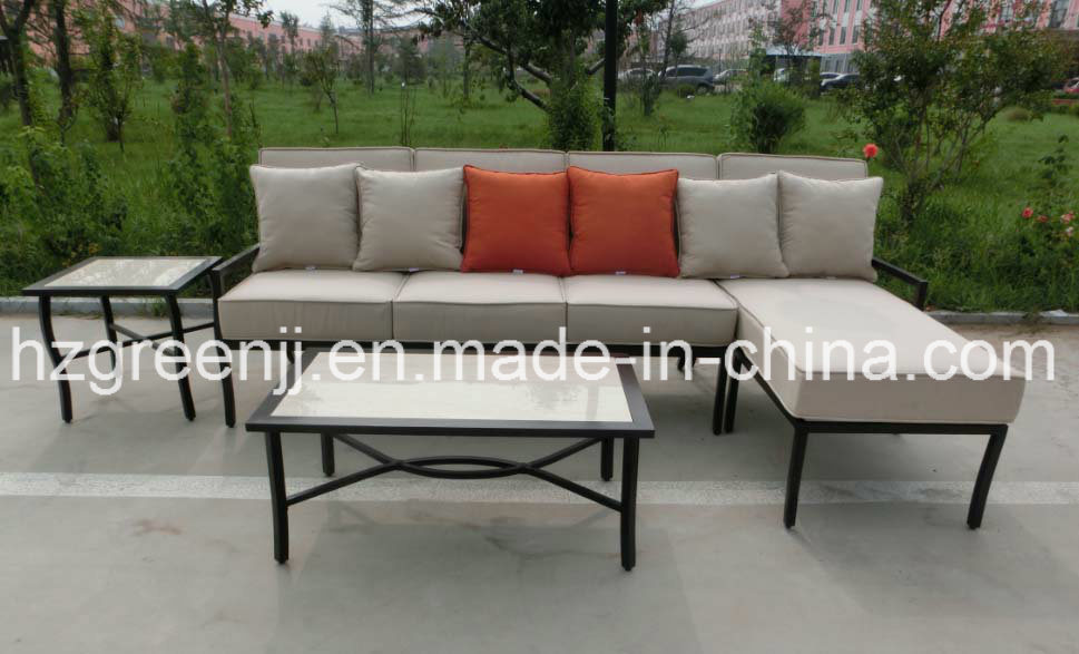 Aluminium Power Coating 4 Pieces Lounger Sofa Set Garden furniture
