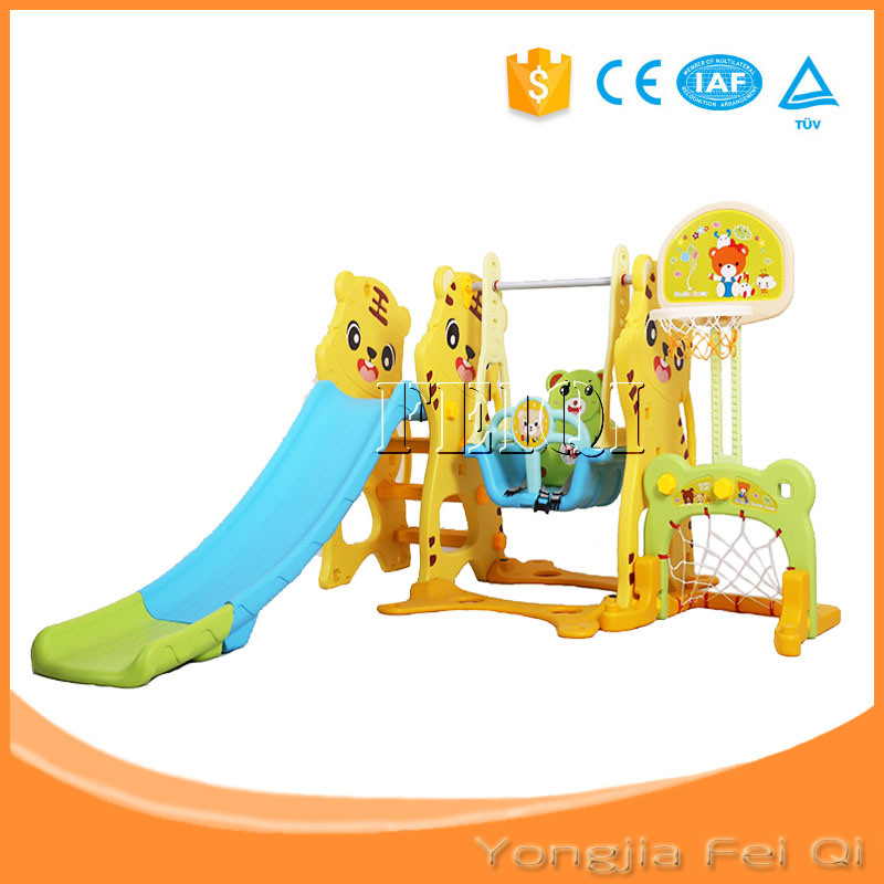 Indoor Playground Mutifunction Iron Pipe Six in One Long Slide and Swing Kid Toy Mh Series